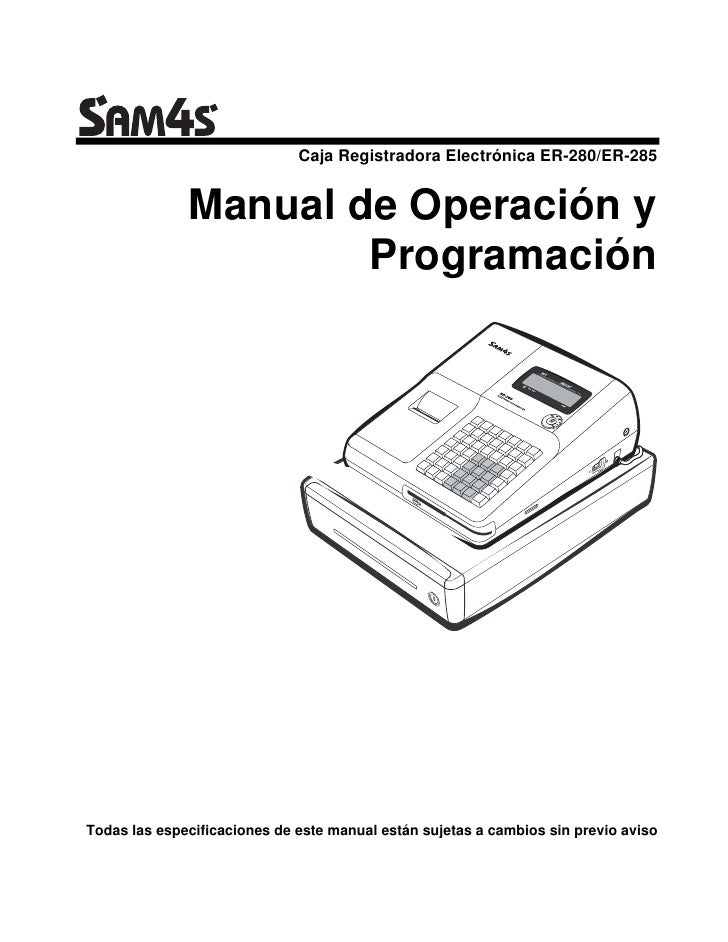 Manual de Programación SAM4S ER-280