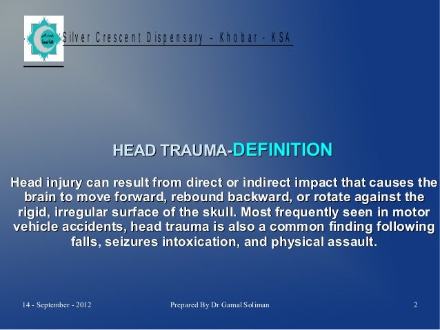 ER Head Trauma-Tetanus