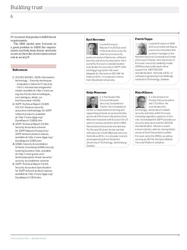 Ericsson Review: Setting the standard: methodology