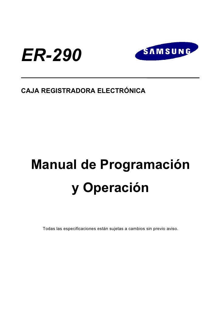 Manual de Programación SAM4S ER-290