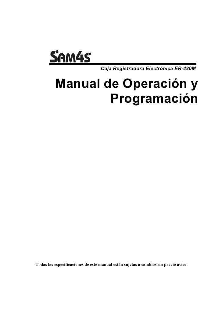 Manual de Programación SAM4S ER-420