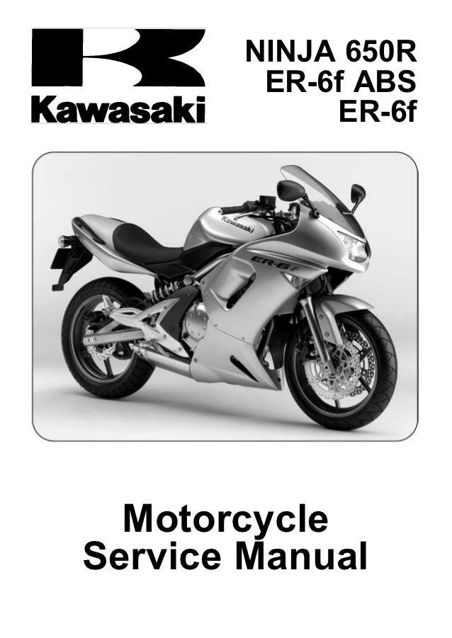 er6f rh slideshare net 2009 Kawasaki Ninja ZX6R 2009 kawasaki ninja 650r owners manual