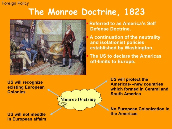 an overview of the monroe doctrine in american history On december 2, 1823, president james monroe used his annual message to  congress for a bold assertion: 'the american continents are.