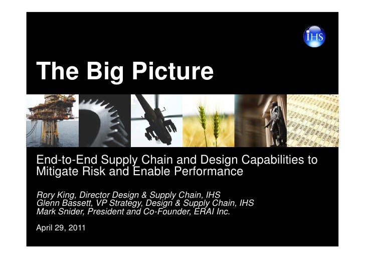 The Big PictureEnd-to-End Supply Chain and Design Capabilities toMitigate Risk and Enable PerformanceRory King, Director D...