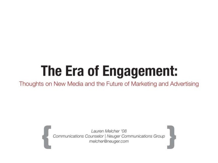 Era of Engagement (2011 version)
