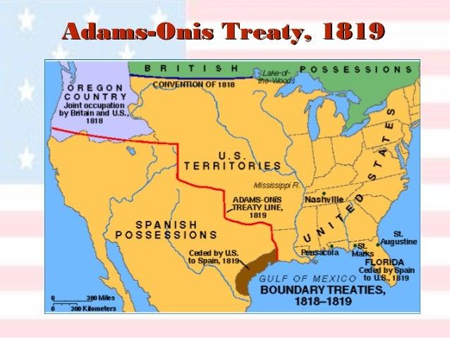 Era Of Good Feelin - Us map 1824
