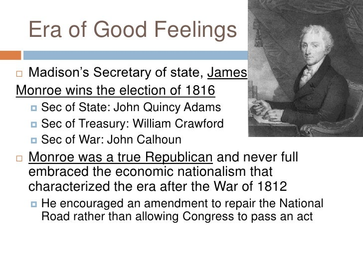 nationalism and sectionalism during the era of good feelings in the united states Presidents during the era of good feelings:  who devised a plan to allow the united states to  nationalism and sectionalism increased during the era of.