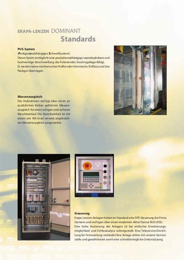 ERAPA-LENZEN              DOMINANT                                 StandardsPUS-System(Packgutunabhängiges-Schweißsystem)D...