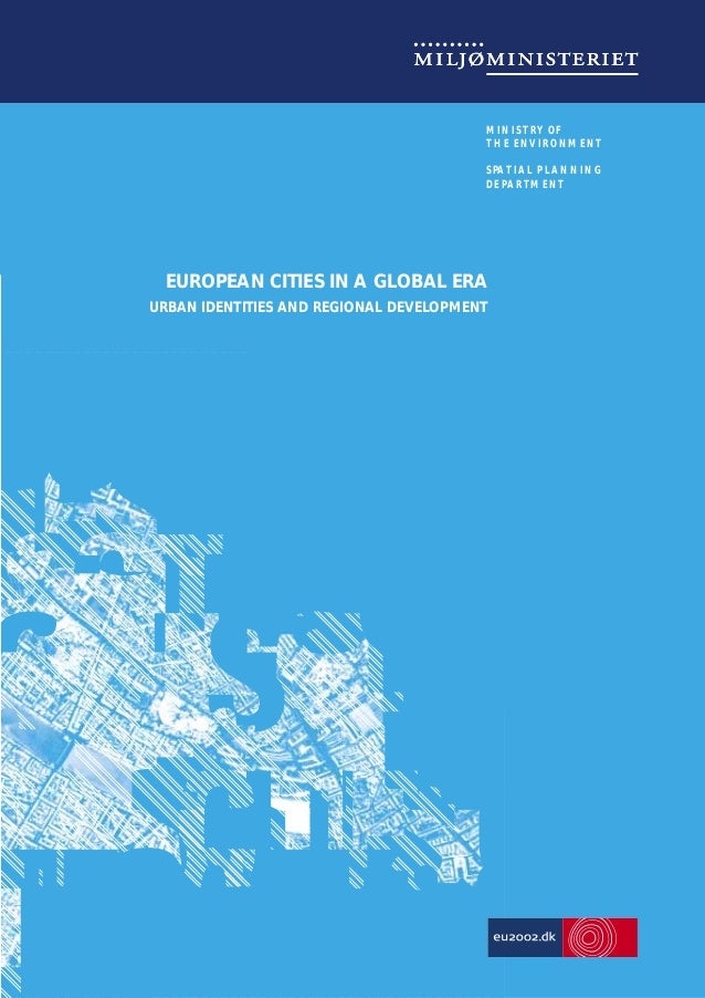 MINISTRY OF THE ENVIRONMENT SPATIAL PLANNING DEPARTMENT  As follow-up to the European Spatial Development Perspective (ESD...
