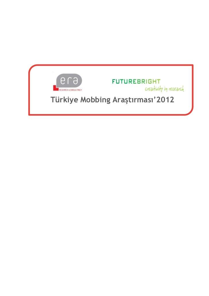 Türkiye Mobbing Araştırması'2012