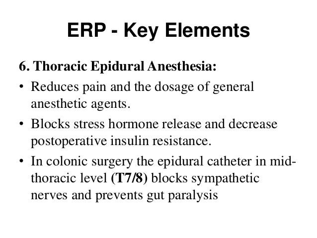 ERP - Key Elements 8. Individualized perioperative fluid administration: Avoid Na and Fluid overload Goal directed fluid t...