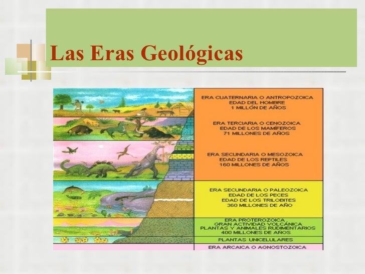 Eras geol gicas for Cuales son las caracteristicas de un mural