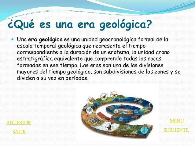 Eras geologicas for Que es practica de oficina