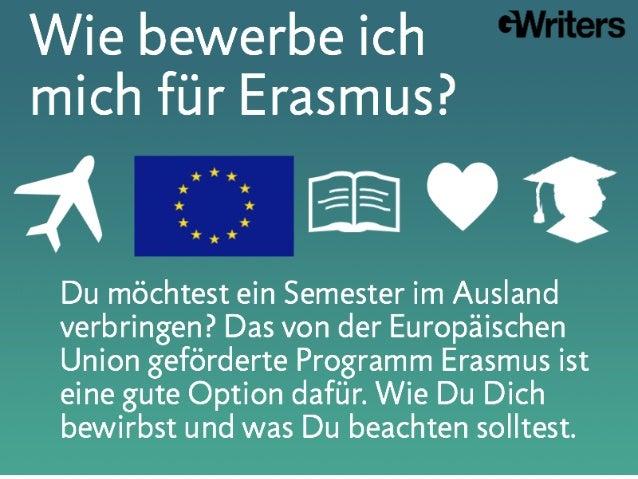 Wie bewerbe ich mich für Erasmus?