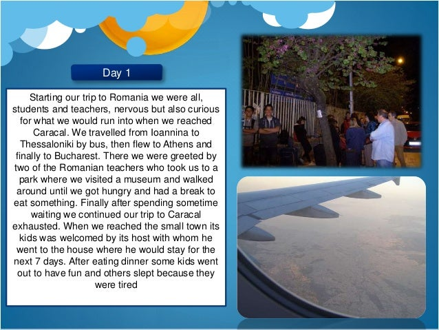Diary of our stay in Romania - Greek team Slide 2