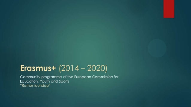 """Erasmus+ (2014 – 2020) Community programme of the European Commission for Education, Youth and Sports """"Rumor roundup"""""""