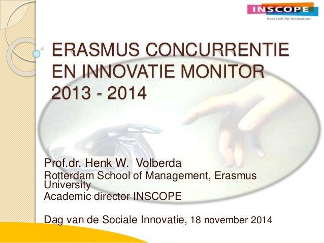Erasmus concurrentie en innovatie monitor 2014