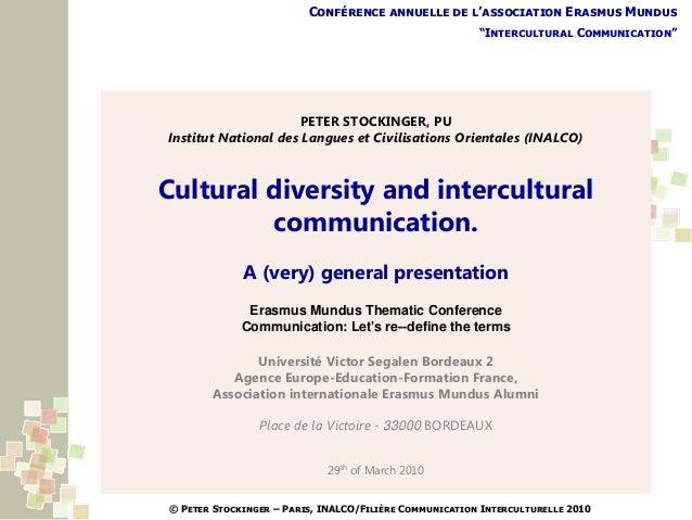 """Conférence annuelle de l'association Erasmus Mundus                                                        """"Intercultural ..."""