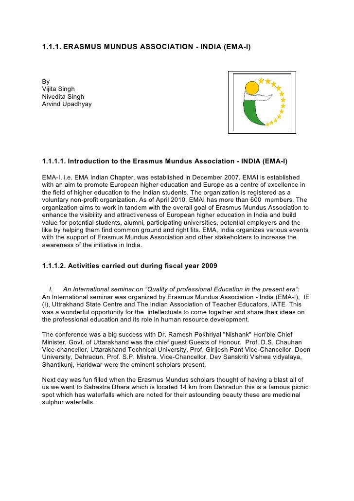 Erasmus mundus association india ema i stopboris Gallery