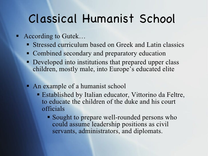 Vittorino da Feltre and other humanist educators