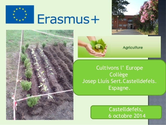 Cultivons l' Europe  Collège  Josep Lluís Sert.Castelldefels.  Espagne.  Castelldefels,  6 octobre 2014