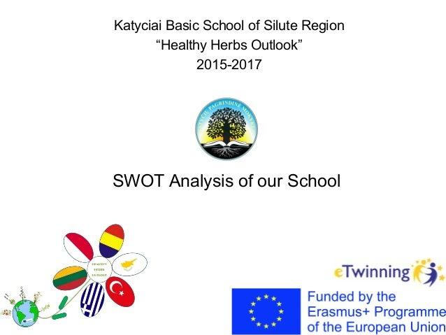 "Katyciai Basic School of Silute Region ""Healthy Herbs Outlook"" 2015-2017 SWOT Analysis of our School"