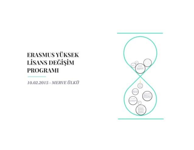 Erasmus + Yüksek Lisans