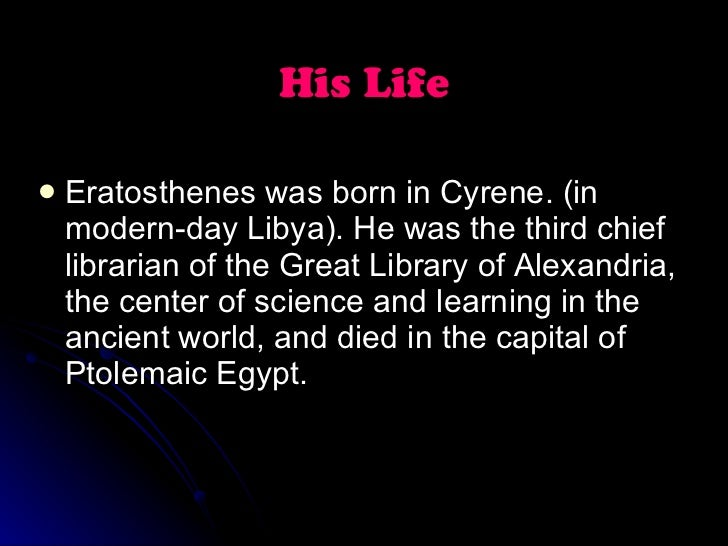 "a biography of eratosthenes According to the suda, eratosthenes was nicknamed ""bemata"" (""platforms"") because he was second in the world in nearly every known branch of learning."