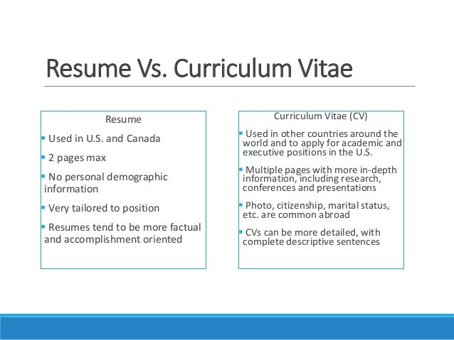 Resume Curriculum Vitae Example Cv Resume Example Cv Vs Resume Perfect  Resume Example Resume And Cover  Cv Vs Resume