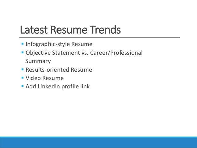 Latest Resume Trends ...