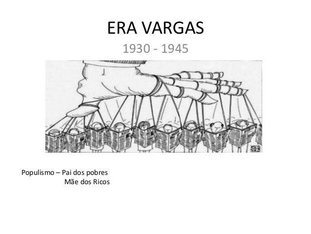 ERA VARGAS 1930 - 1945 Populismo – Pai dos pobres Mãe dos Ricos