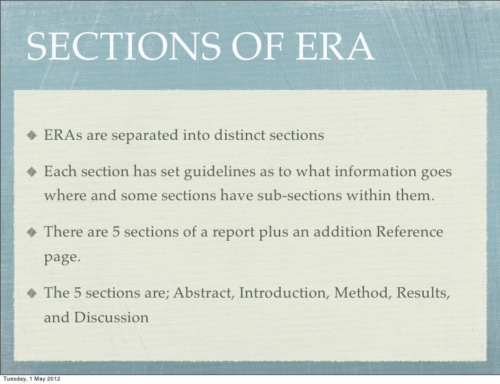 How to write an era report format for writing a college essay
