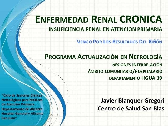 Enfermedad Renal insuficiencia renal crónica
