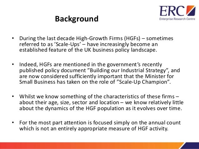 the UK's High-Growth firms and their Resillience over the Great Recession Slide 2