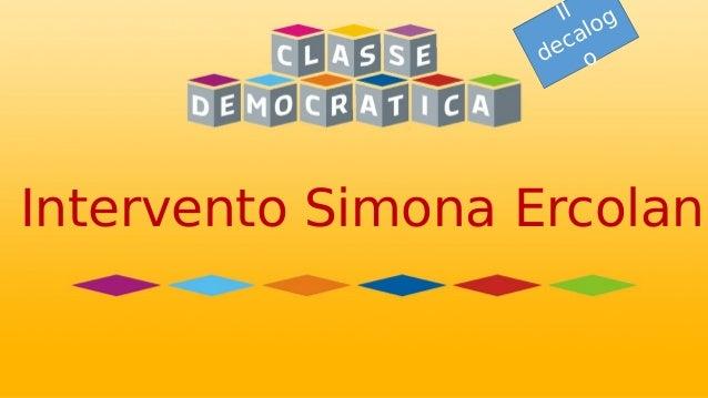 Intervento Simona Ercolani Il decalog o Intervento Simona Ercolani
