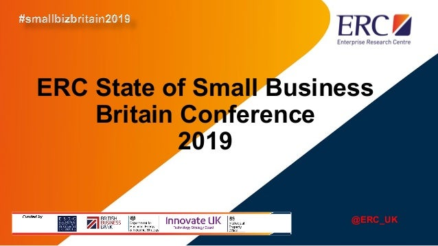 ERC State of Small Business Britain Conference 2019 @ERC_UK