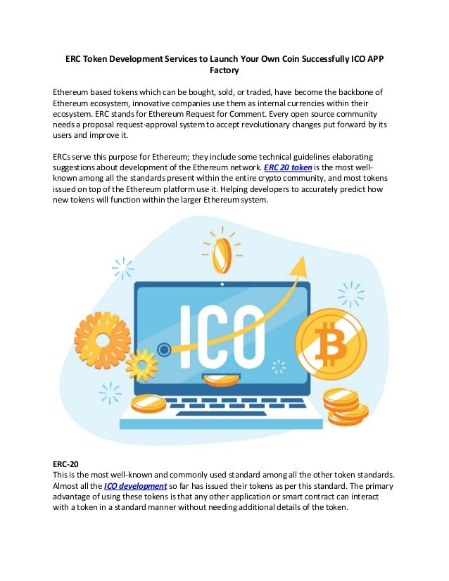 Erc token development services to launch your own coin successfully i…