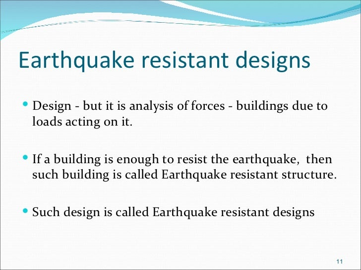 earthquake resistant design 152 earthquake resistant design according to 1997 ubc major changes from ubc 1994 (1) soil profile types: the four site coefficients s1 to s4 of the ubc 1994, which are.