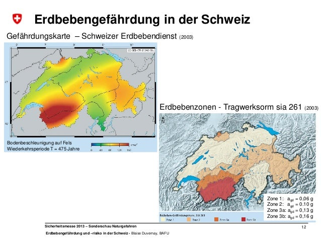 Erdbebengefährdung und -risiko in der Schweiz
