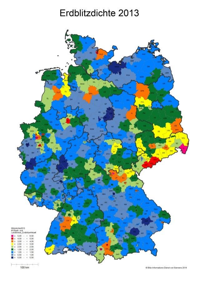 Der Blitz-Atlas für Deutschland