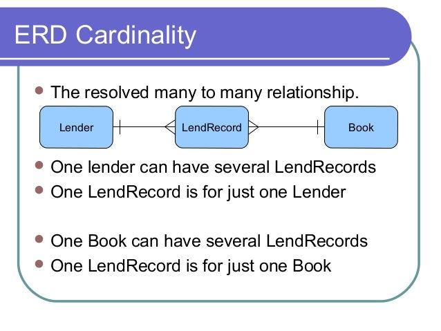 erd relationship and cardinality