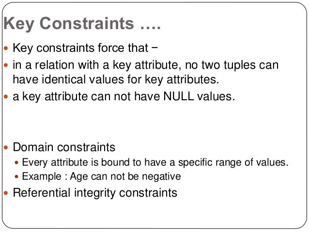 Er diagrams presentation key constraints ccuart
