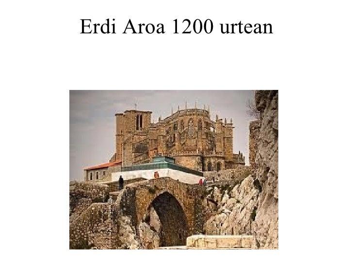Erdi Aroa 1200 urtean