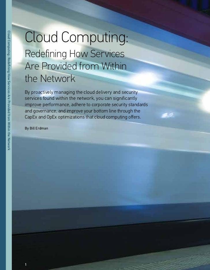 Cloud Computing:Cloud Computing: Redefning oo eeriiee ee eorided eom                                                      ...