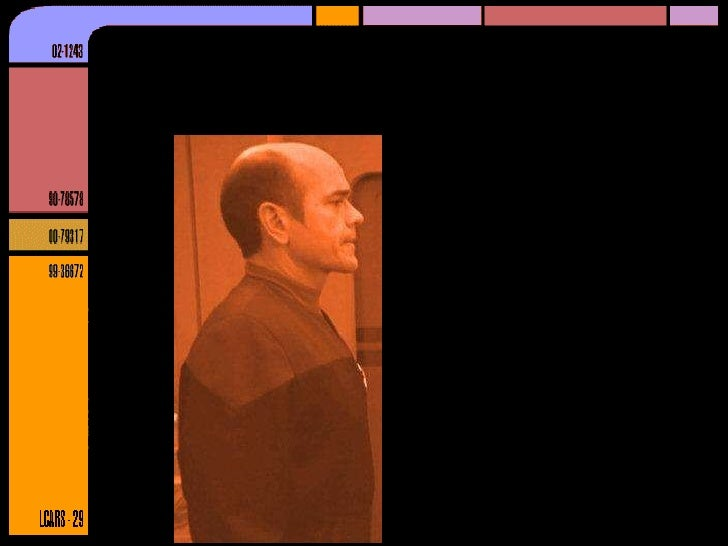 Entity Relationship Diagrams - Star Trek style
