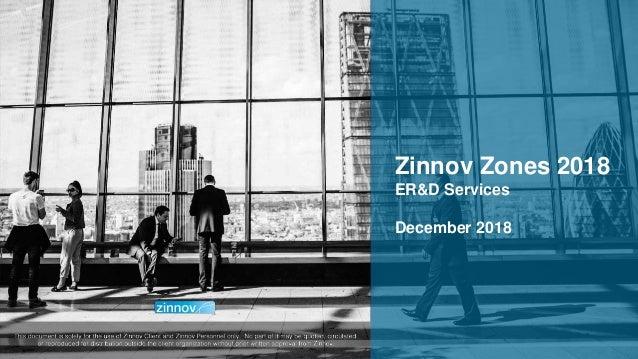 Zinnov Proprietary Confidential 1 Zinnov Zones 2018 ER&D Services December 2018