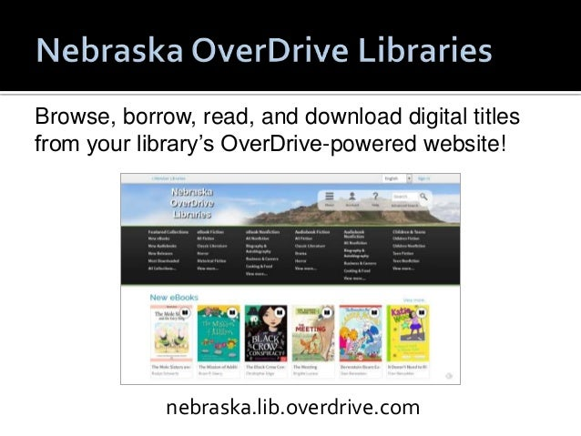 eBook Formats:   OverDrive READ (new)   EPUB   PDF   Kindle  Audiobook Formats:   MP3   WMA (being phased out)
