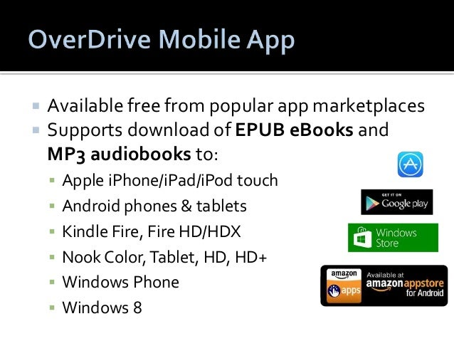  Sign up at www.overdrive.com or when you  download and install the OverDrive app.   Syncs bookmarks, reading/listening ...