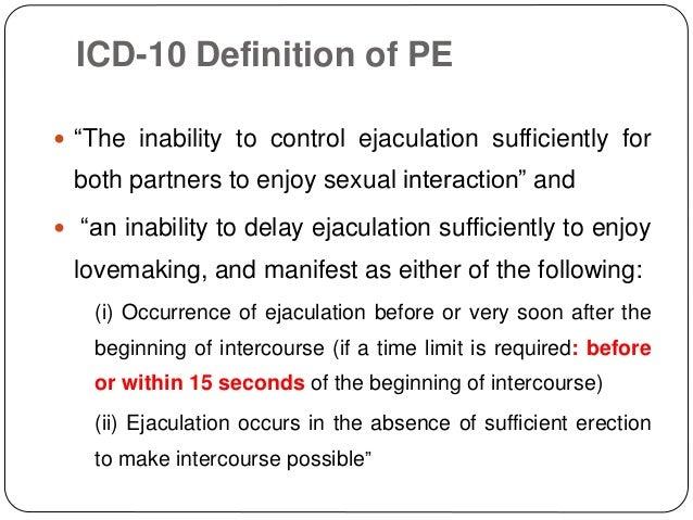 erectile dysfunction classification