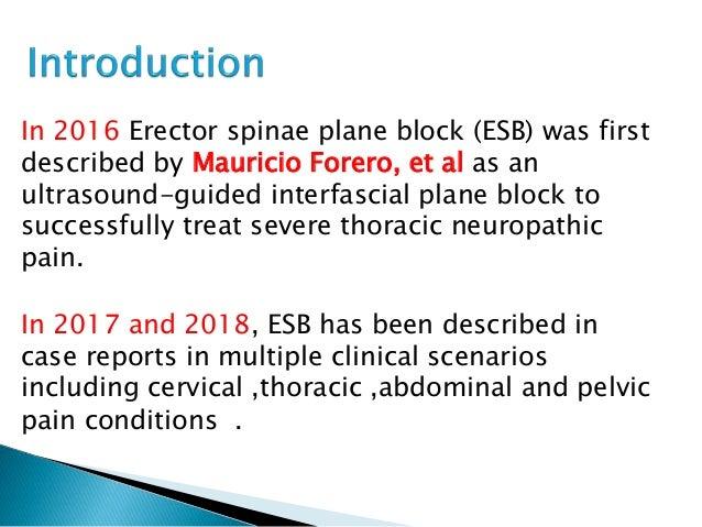 Erector spinae plane block for pain management Slide 2